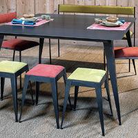 TABLE HAUTE DESIGN EN MÉTAL (ACIER BRUT) SUR MESURE.