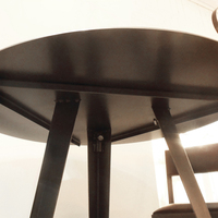 TABLE HAUTE RONDE / MANGE DEBOUT MÉTAL (ACIER BRUT) SUR MESURE.