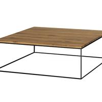 TABLE BASSE MÉTAL (ACIER BRUT) ET BOIS SUR MESURE STYLE LOFT INDUSTRIEL