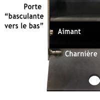 CHEVET / BOUT DE CANAPÉ DESIGN EN METAL (ACIER BRUT) SUR MESURE.