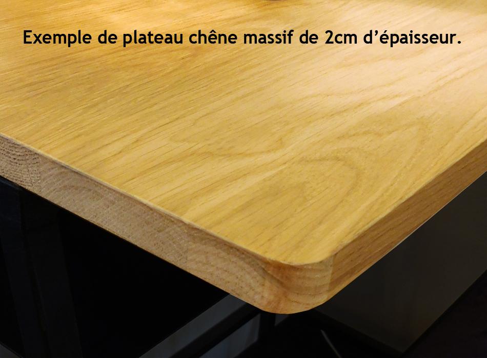 TABLE BASSE CARRÉE BOIS ET METAL (ACIER BRUT) SUR MESURE