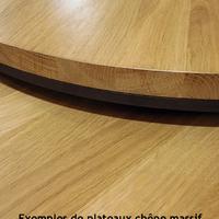 TABLE BASSE DOUBLE PLATEAU MÉTAL (ACIER BRUT) ET BOIS SUR MESURE.