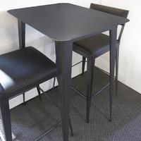 TABLE HAUTE / MANGE DEBOUT RECTANGULAIRE MÉTAL (ACIER BRUT) SUR MESURE.