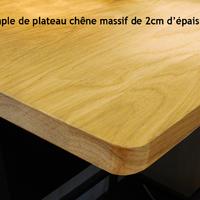 """TABLE BASSE """" TRAPÈZE"""" MÉTAL ET BOIS SUR MESURE STYLE LOFT INDUSTRIEL"""